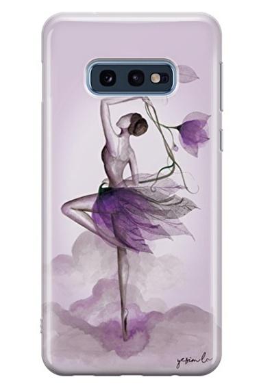 Lopard Samsung Galaxy S10E Kılıf Çiçekle Dans Kapak Renkli